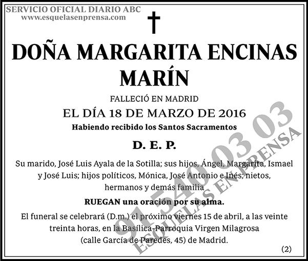 Margarita Encinas Marín